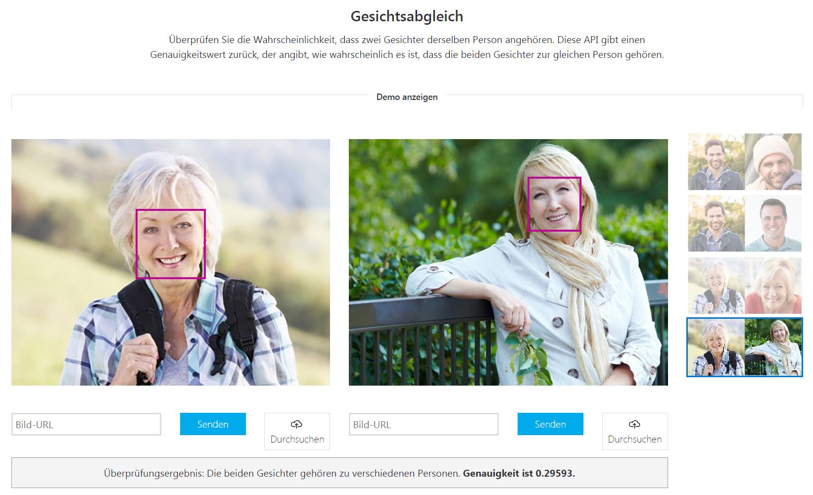 Cognitive Services Azure Gesichtsabgleich